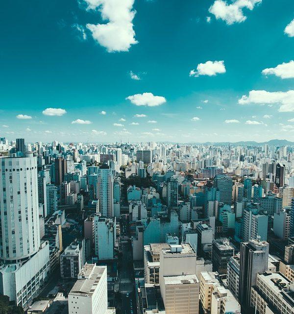 Une ville du Brésil vue du ciel